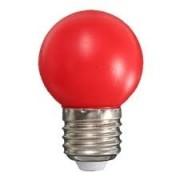 LAMPADA BULBO BOLINHA 110V 1.5W VERMELHO BG45