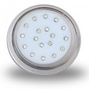 Luminária de Piscina PVC Transparente 80mm 18W 12V CP.ROSCA 6500K (50044)