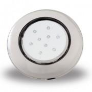 Luminária de Piscina PVC Transparente 125mm 9W 12V CP.ROSCA RGB (50033)