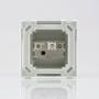 Caixa de sobrepor 75 x 50 x 75mm com 1 interruptor simples 10A  Sleek branca PA018657  MODELO X SISTEMA X MODULAR