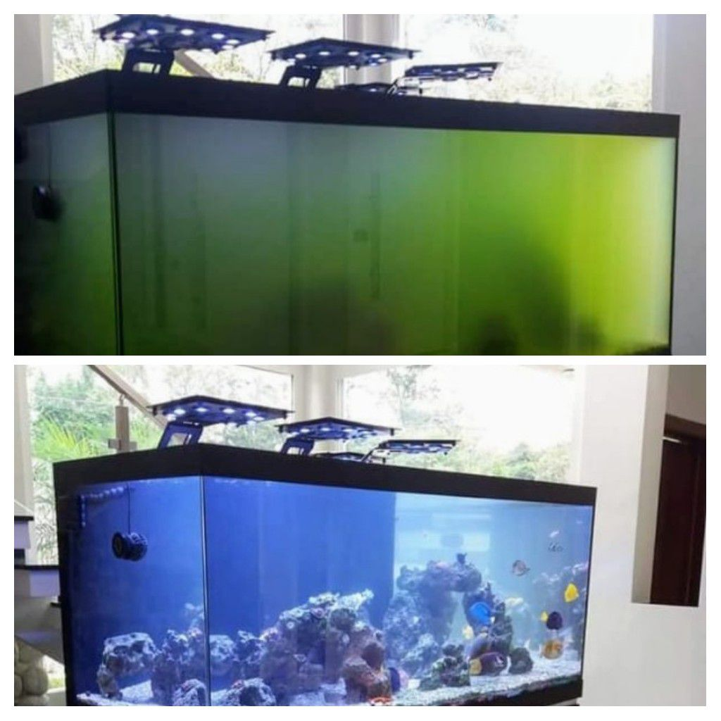 "Filtro UV 60W 1"", Filtro esterilizador UV 60W para lagos de até 15.000l"
