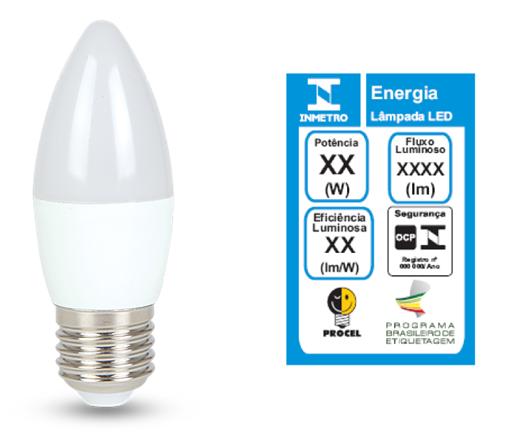 Lâmpada LED Vela Balão 4,8W Rosca E27 450lm 3000K