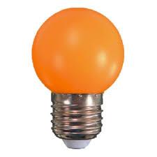 LAMPADA BULBO BOLINHA 110V 1W LARANJA CTB
