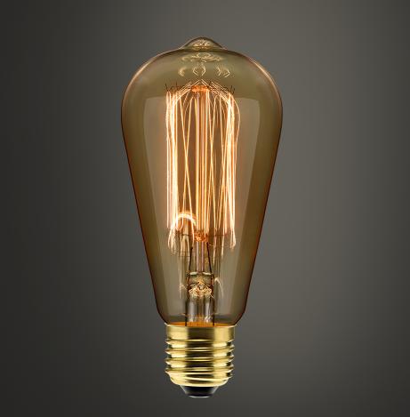 Lâmpada Filamento de Carbono ST64 40W