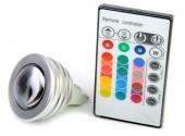 Lâmpada Dicroica RGB Led Com Controle Remoto 12V