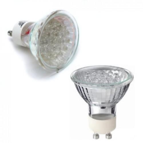 Lâmpada LED Alto Brilho Gu10 1,2W 127V 18 Leds 3000K