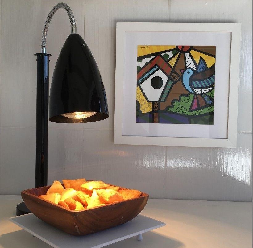 Luminária Aquecedora de Alimentos 1 lâmpadas aquecedora infra-vermelha 220V 250W