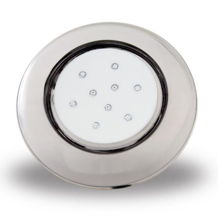 Luminária de Piscina PVC Transparente 125mm 9W 12V CP.ROSCA AZUL (50030)