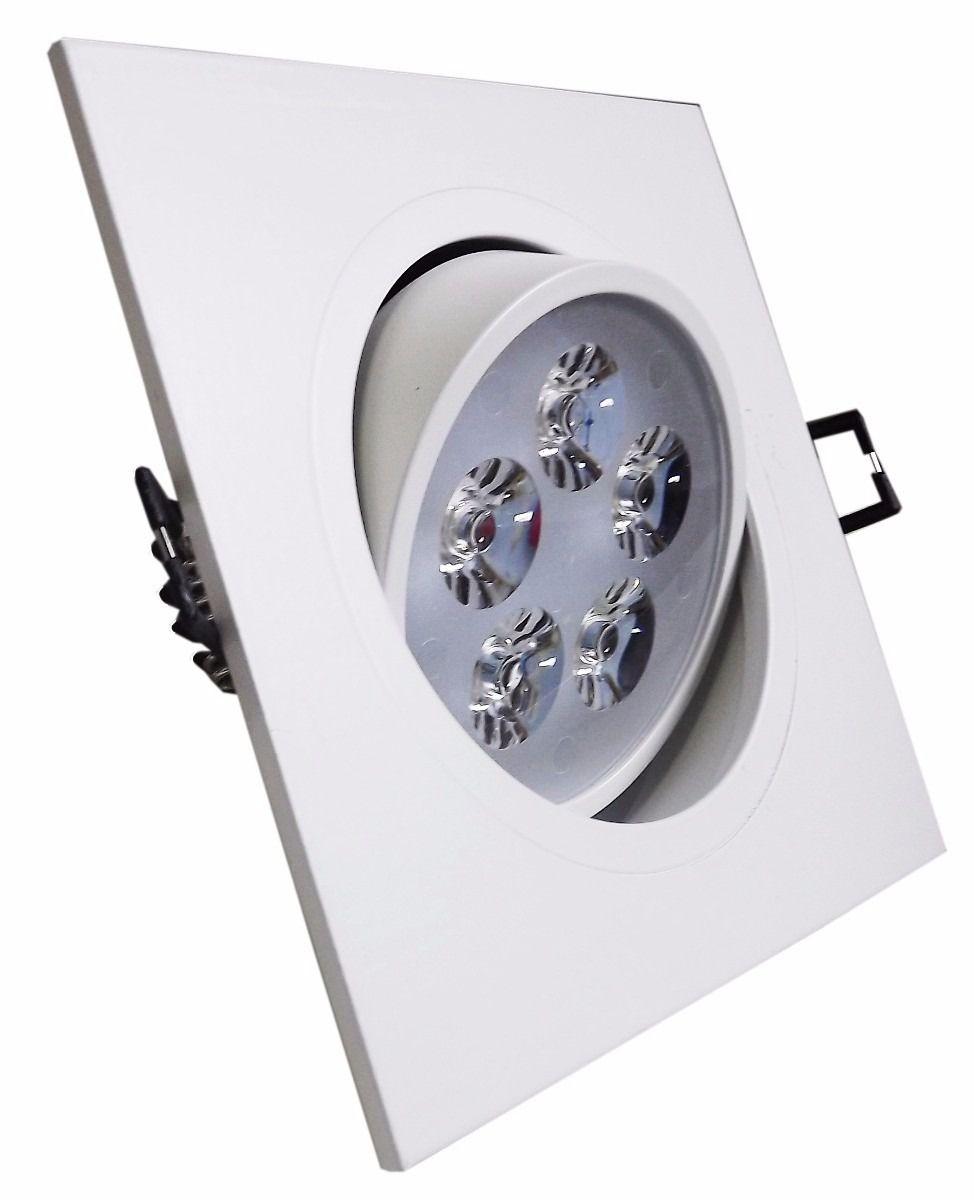 Luminária Spot LED Embutir Quadrado Branco Quente