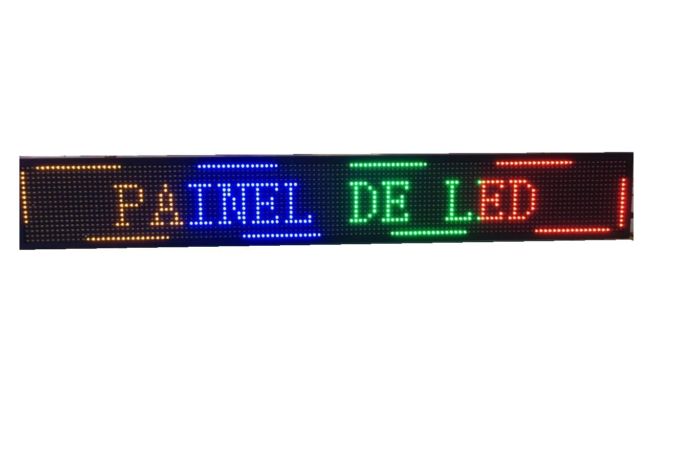 PAINEL DE LED LETREIRO COLORIDO USB+WIFI 68X20CM