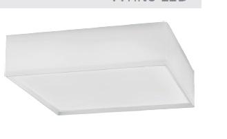 Plafon White Led 20W 127V 6400K 30cm Bronzearte