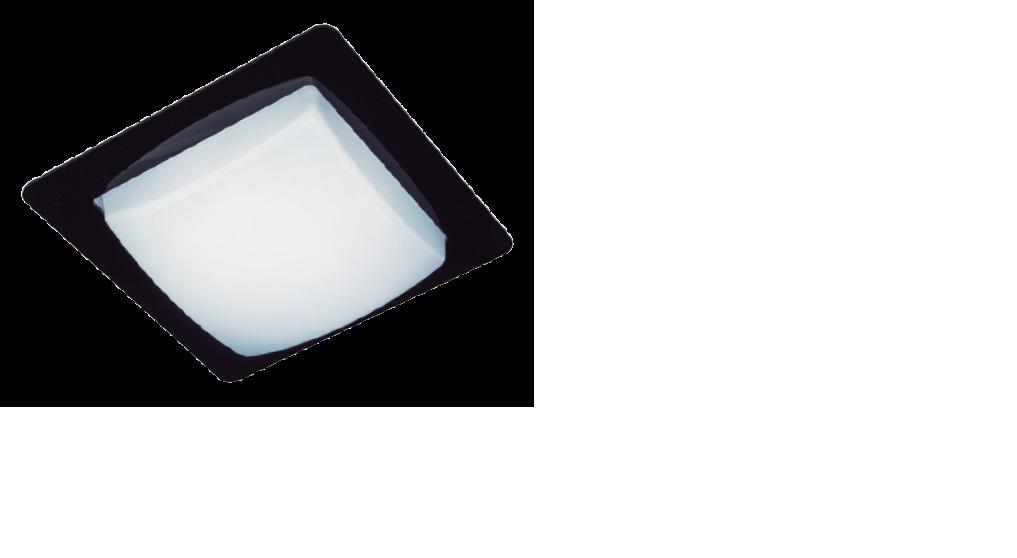 Plafon Infinity Preto Led 6400K 28cm Bronzearte IF282826PFPT1