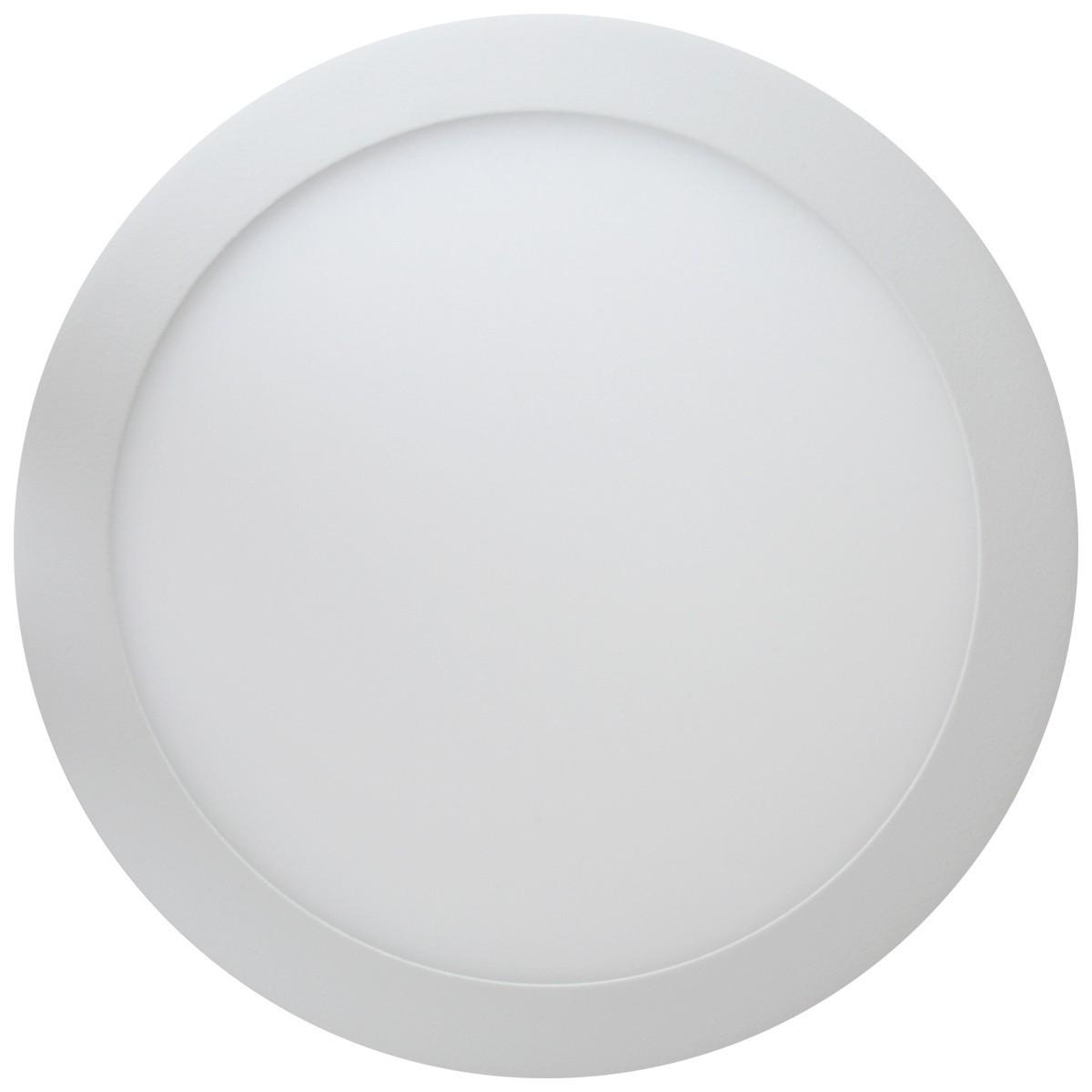 Plafon LED 24W Sobrepor Redondo Branco Quente 3000K