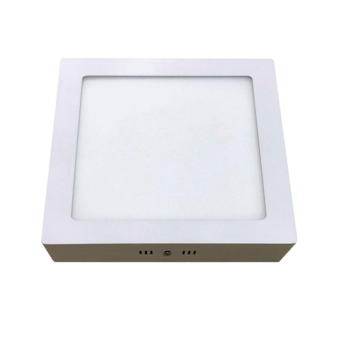 Plafon LED 18W - Luminária de Sobrepor 18W Quadrado