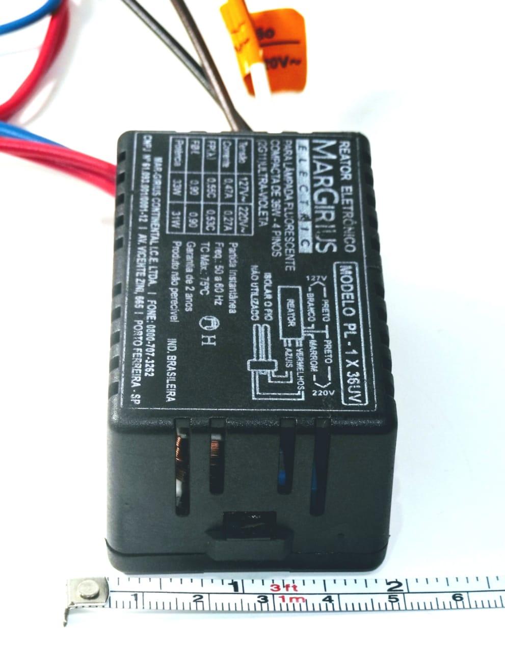 Reator Lâmpada UV 36W 1x36W