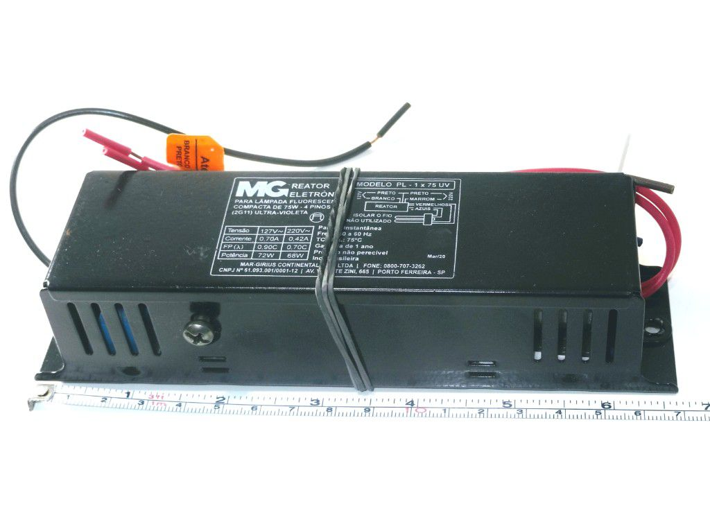 REATOR LAMP UV PL 1X75W AF3MG/UV