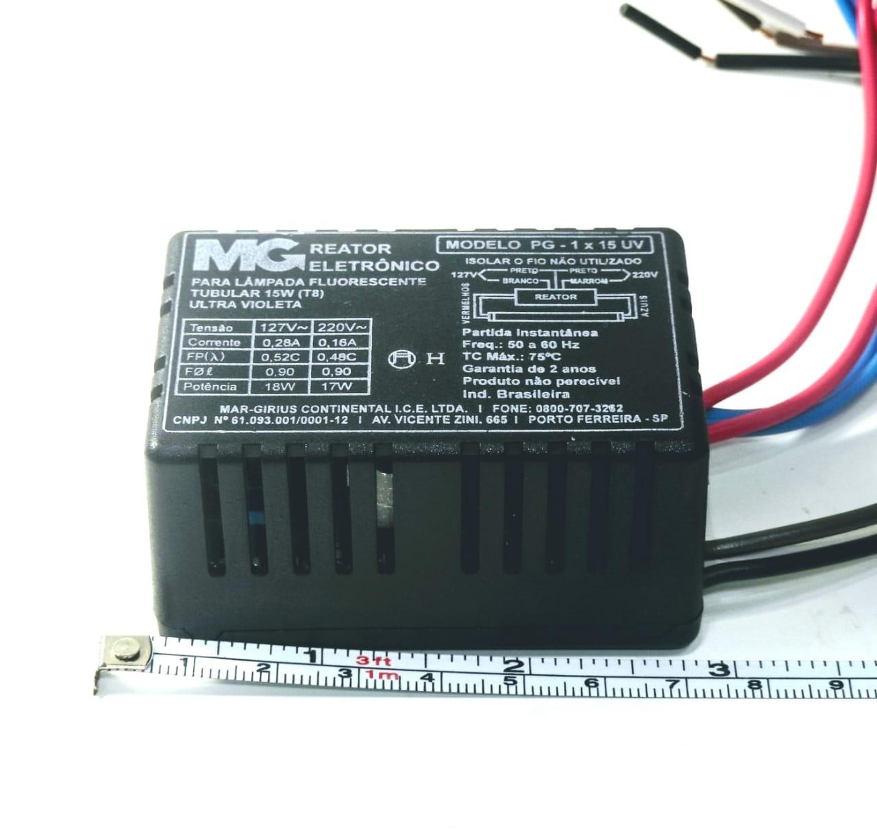 Reator P/ Lampada UVC 15W, Reator P/ Lâmpada UV 15W, Reator 1X15W