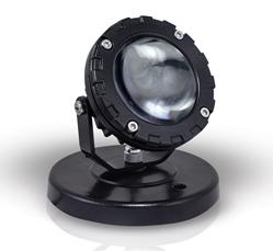 Spot LED 9W de Base - ALUM90 BASE 10W IP65 LED COB CORPO PRETO BRANCO QUENTE 3500K 12V