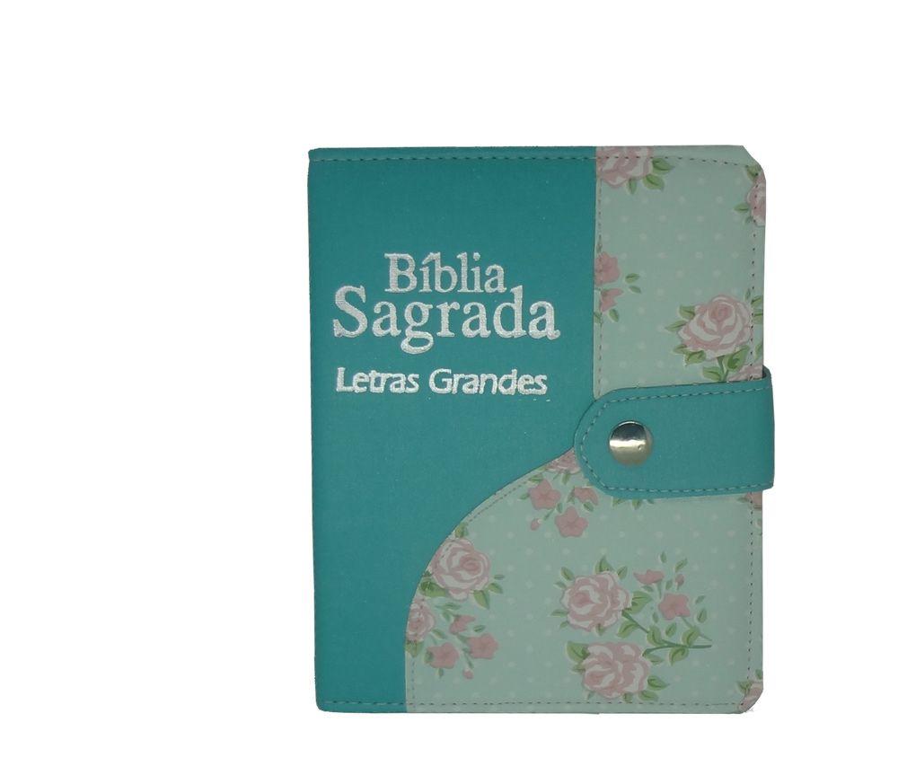 Biblia CCB Letra Grande com Botão - Media