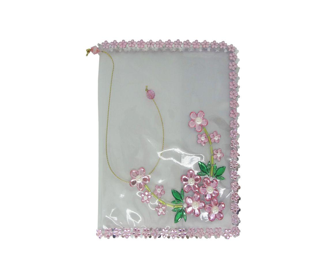 Capa para Bíblia com Hinário Pequeno Transparente com Flor