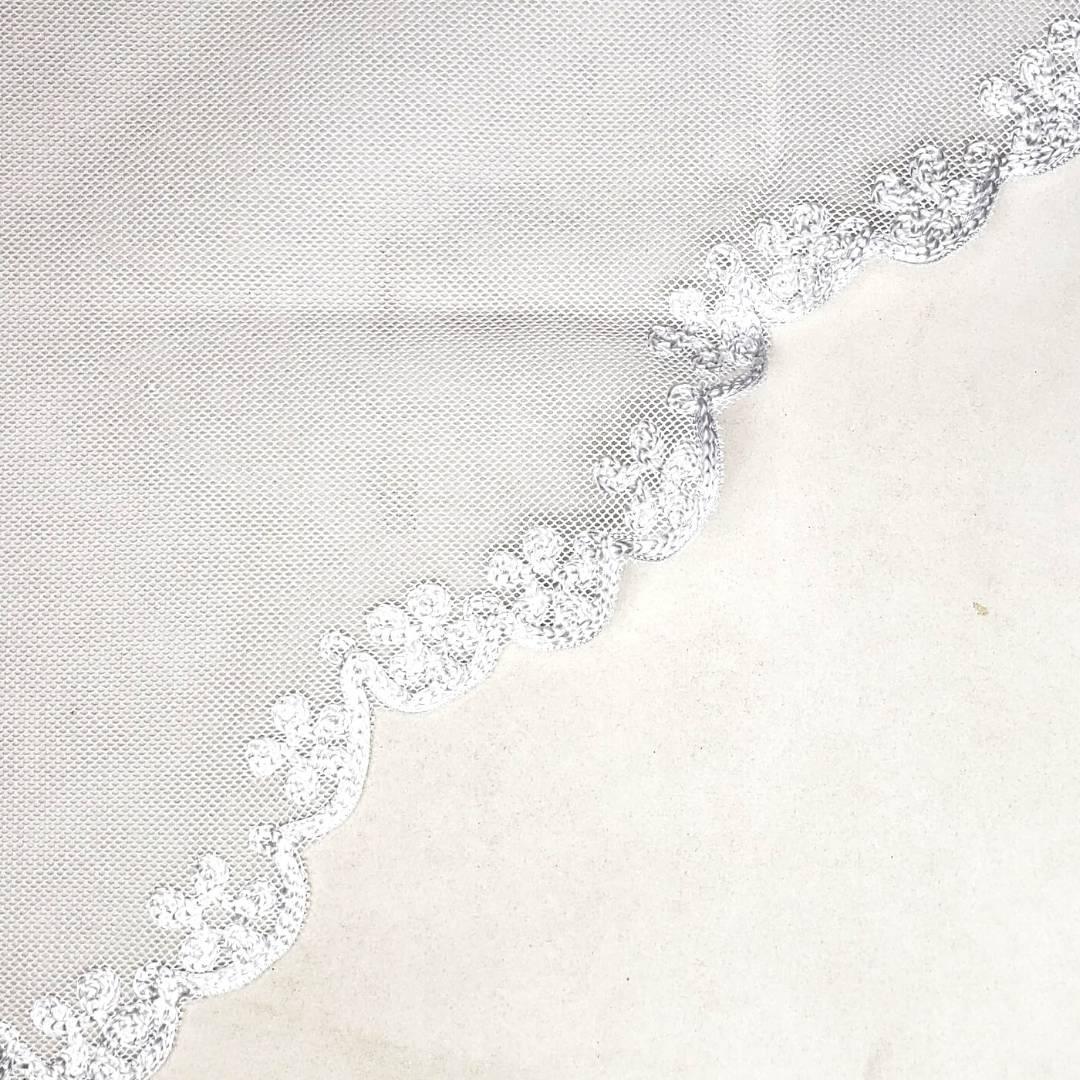 Véu CCB Tecido de Algodão Bordado VC-B161