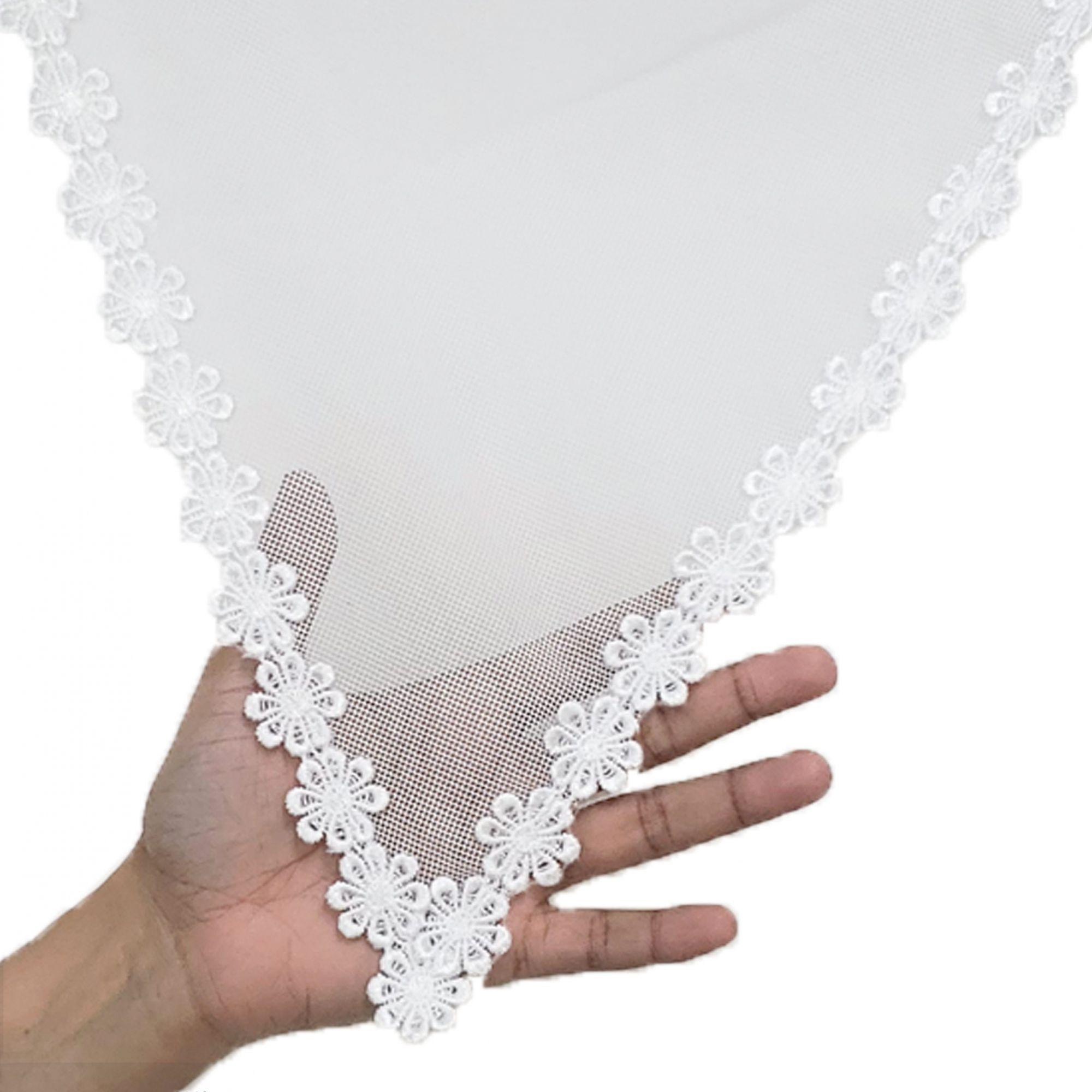 Véu CCB Tecido de Algodão Filó Renda CHL-207-25
