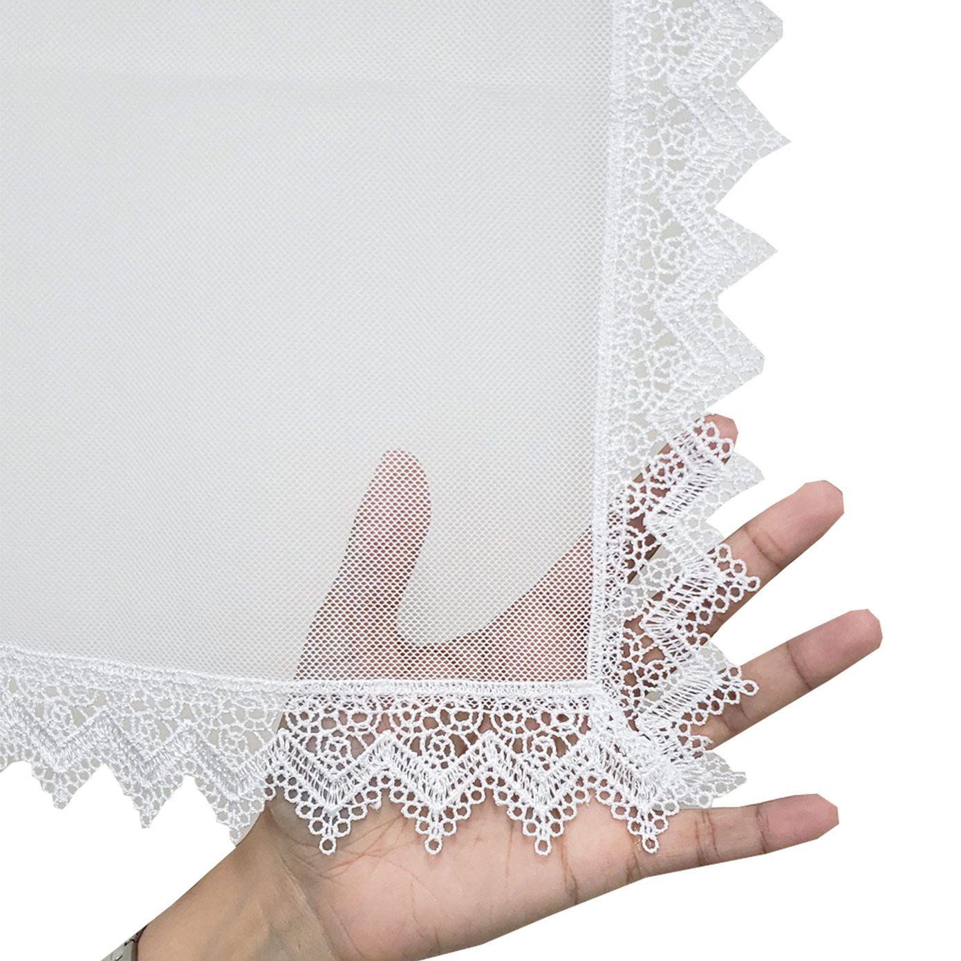Véu CCB Tecido de Algodão Filó Renda CHL-420
