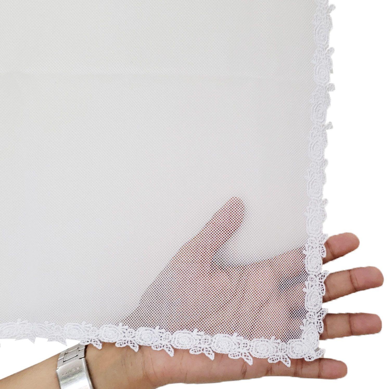 Véu CCB Tecido de Algodão Filó Renda MH-2728