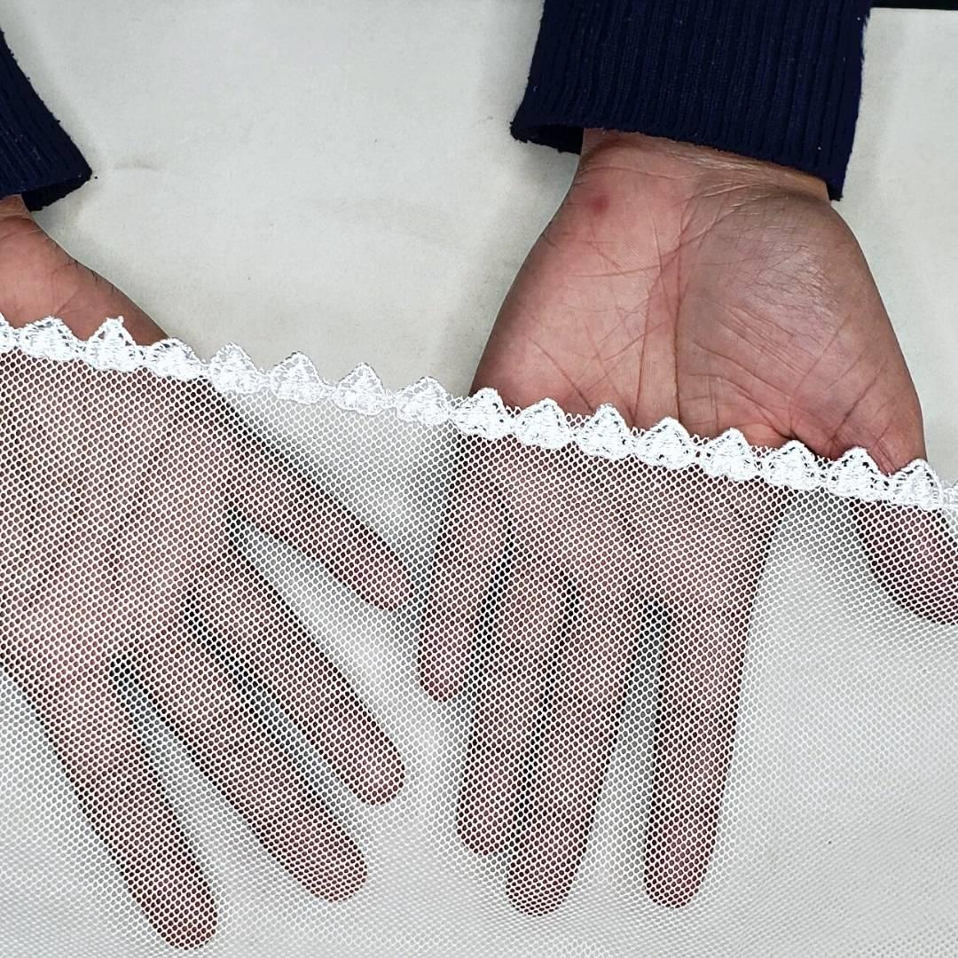 Véu CCB Tecido de Algodão Renda MH-2660