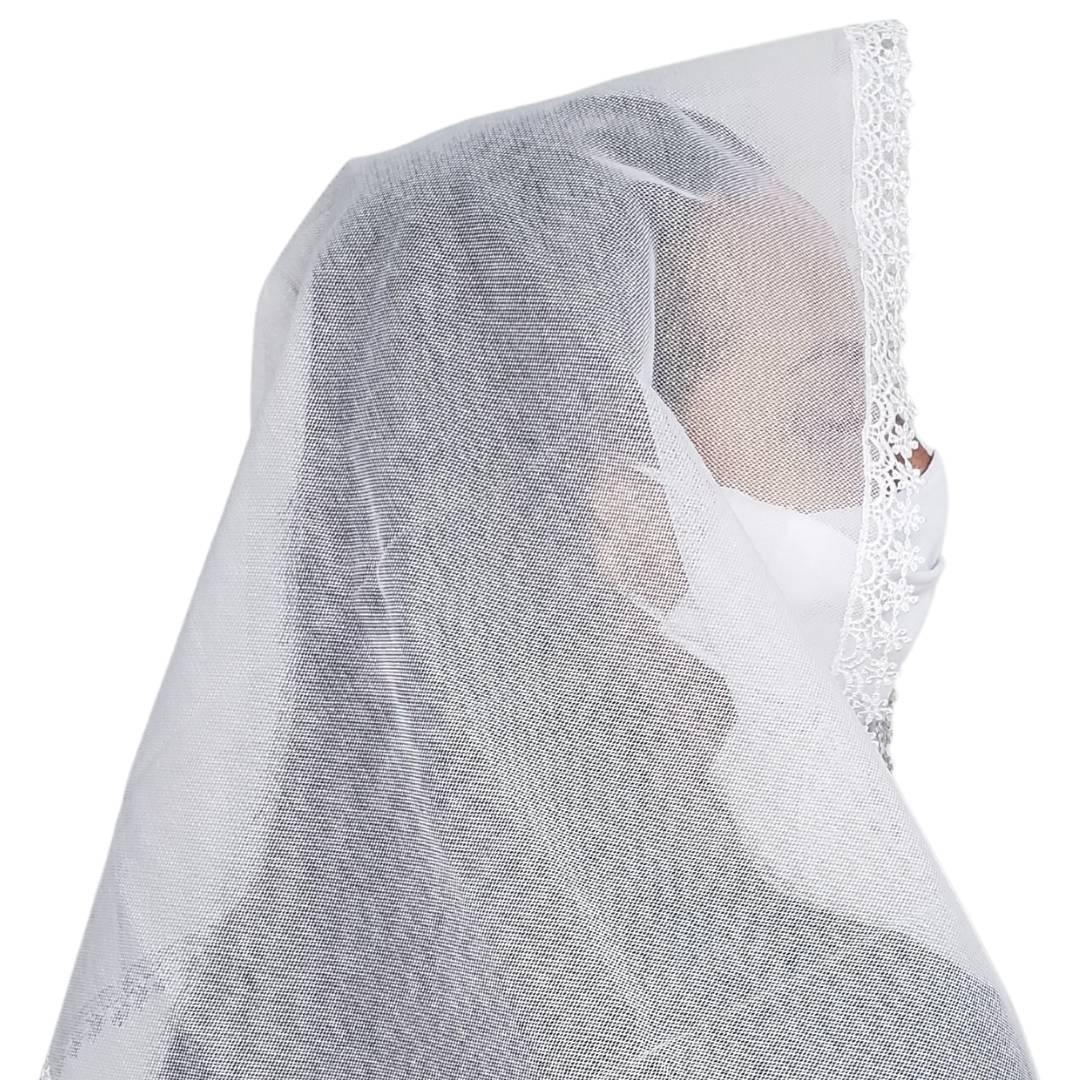 Véu CCB Tecido de Algodão Renda OR-51929