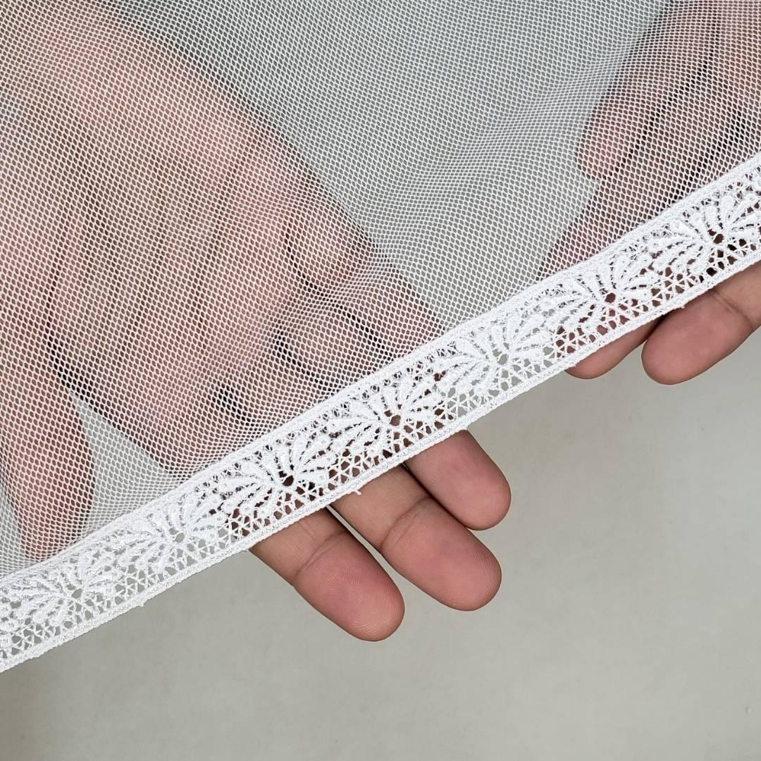 Véu CCB Tecido de Algodão Renda OR-52234