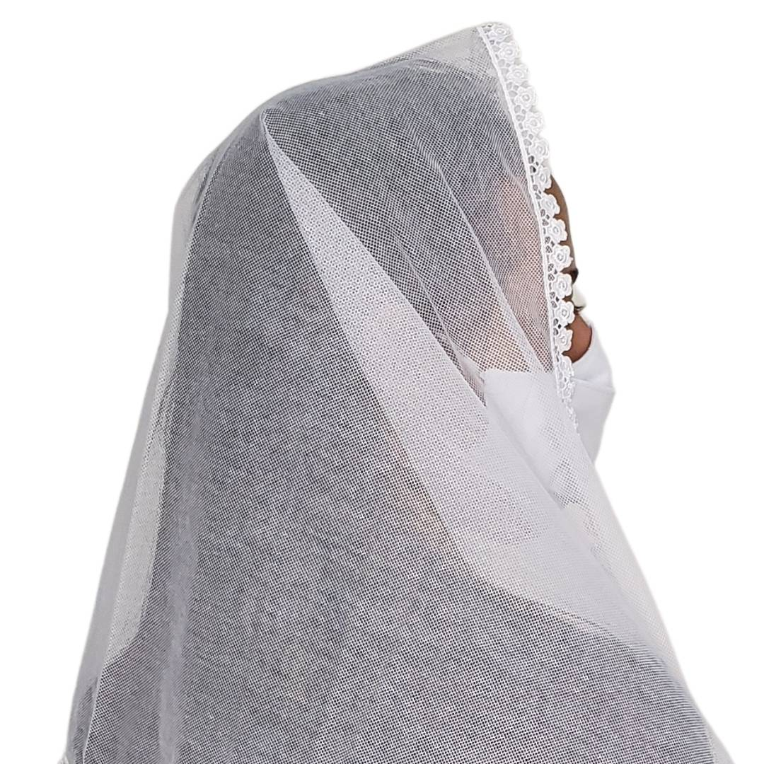 Véu CCB Tecido de Algodão Renda OR-53282