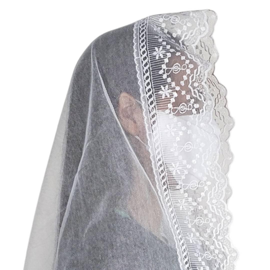 Véu CCB Tecido de Algodão Renda XL-46