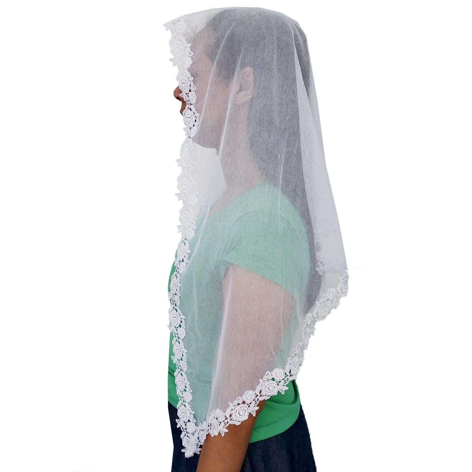 Véu CCB Tecido de Algodão Verona Renda OR-53314