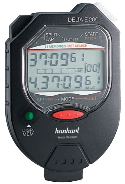 CRONÔMETRO DIGITAL 1/100seg - DELTA E200 - HANHART  - HOMIS.COM.BR