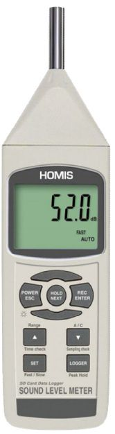 Decibelimetro Digital Homis 131-1 H004-698 norma IEC61672 classe 1  - HOMIS.COM.BR