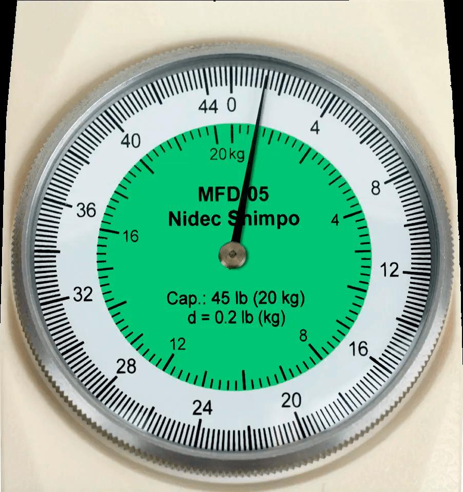 DINAMÔMETRO ANALÓGICO DE DUPLA ESCALA 50kg - MFD-06 - H330-303 - SHIMPO  - HOMIS.COM.BR