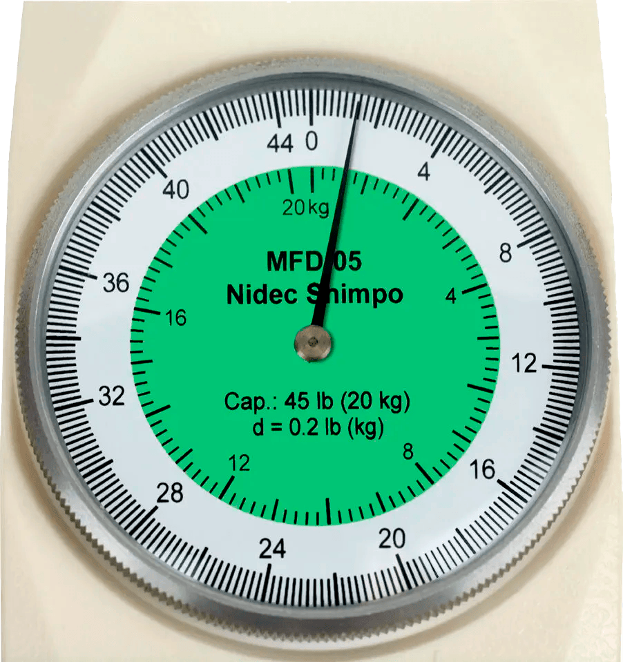 DINAMÔMETRO ANALÓGICO DE DUPLA ESCALA  20kg - MFD-05 - H330-302- SHIMPO  - HOMIS.COM.BR