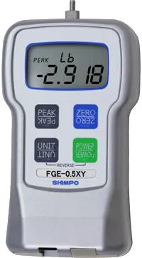 DINAMÔMETRO DE TRAÇÃO E COMPRESSÃO DIGITAL DE ALTA PRECISÃO 20kg - FGE-50XY - H330-020 - SHIMPO  - HOMIS.COM.BR