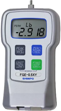 DINAMÔMETRO DE TRAÇÃO E COMPRESSÃO DIGITAL DE ALTA PRECISÃO 2kg - FGE-5XY - H330-041 - SHIMPO  - HOMIS.COM.BR