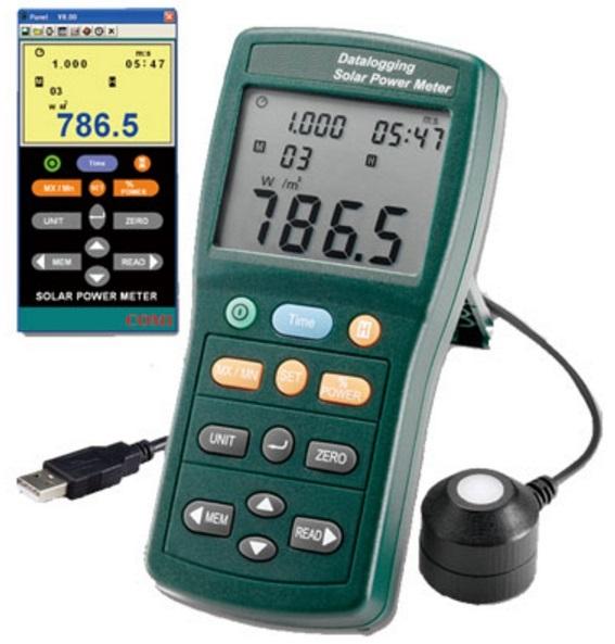 MEDIDOR DE ENERGIA SOLAR COM DATALOGGER - 402 - HOMIS  - HOMIS.COM.BR