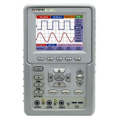 OSCILOSCÓPIO DIGITAL 20MHz - 02 CANAIS E MULTÍMETRO TRUE-RMS - DISPLAY LCD 3,8 COM USB E SOFTWARE - GDS-122 - GW INSTEK  - HOMIS.COM.BR