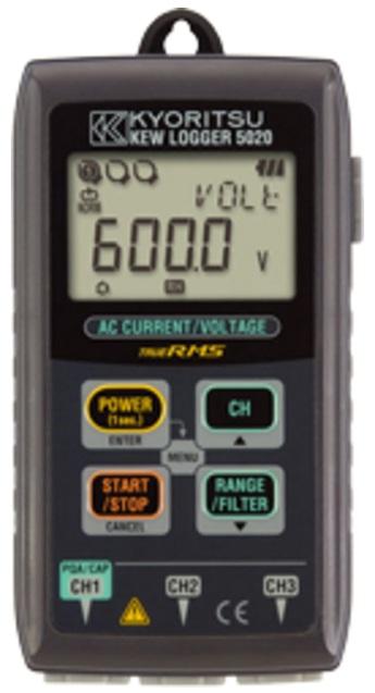 REGISTRADOR DIGITAL PORTÁTIL COM ANALISE DE QUALIDADE DE ENERGIA CAT III 300V - 5020 - KYORITSU  - HOMIS.COM.BR