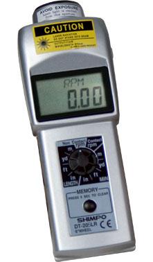 """TACÔMETRO DIGITAL PORTÁTIL COM E SEM CONTATO COM RODA DE VELOCIDADE 12"""" LCD - DT-205LR-S12 - SHIMPO   - HOMIS.COM.BR"""