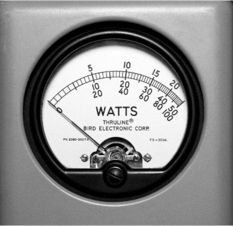 WATTÍMETRO ANALÓGICO DE RÁDIO FREQUÊNCIA - 4314C - BIRD 450 kHz a 2,7 GHz e 100 mW a 10 KW RF  - HOMIS.COM.BR