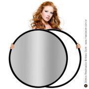 Rebatedor Flexível | Circular Prata/Branco Ø107cm