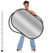 Rebatedor Flexível | Retangular Prata/Branco 71x112cm