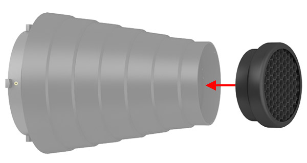 Colmeia 60mm para Snoot G3