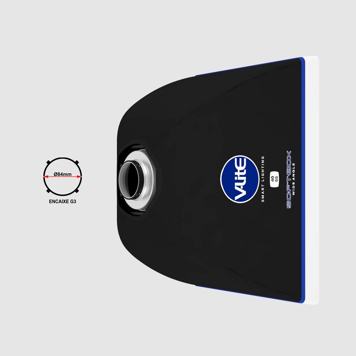 DIFUSOR DE LUZ SOFTBOX WIDE ANGLE 40 X 55 V-LITE
