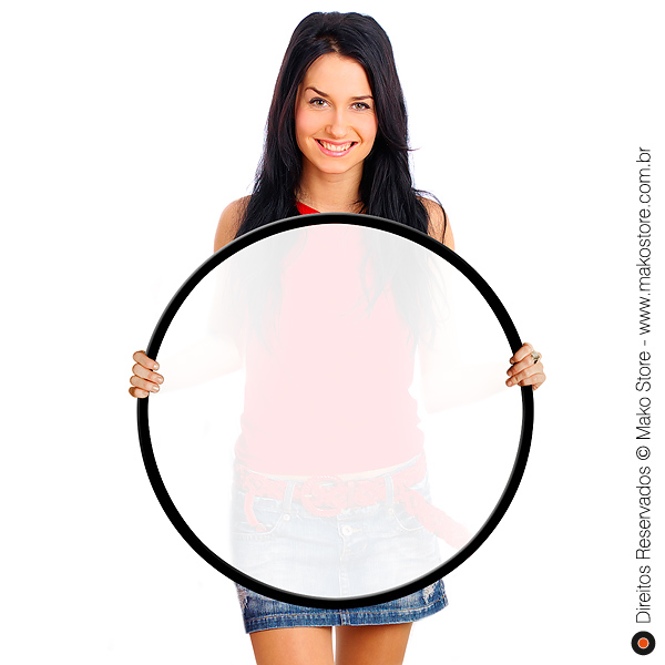 Difusor Flexível | Circular Branco Translúcido Ø82cm